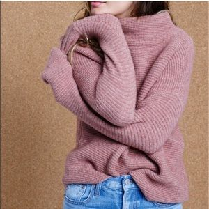 Madewell southfield mock neck sweater mauve small